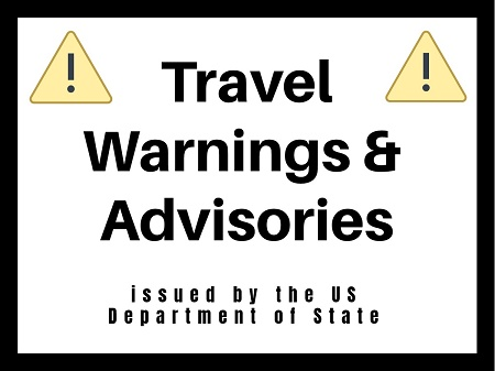 travel warnings and alerts