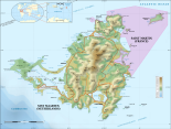 st martin topographical map