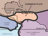 caribbean tectonic plates map