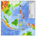 indonesia hazard map